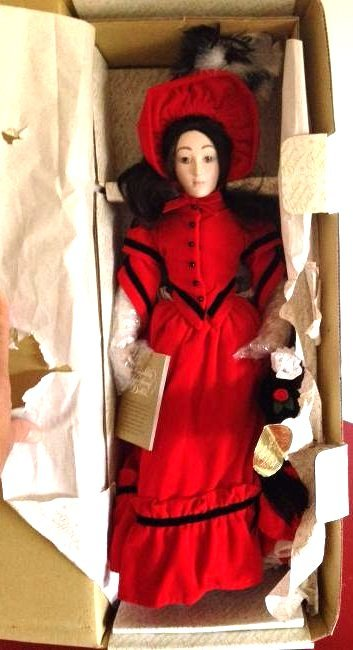 Franklin Heirloom Doll Little Women Jo in Orig. Box