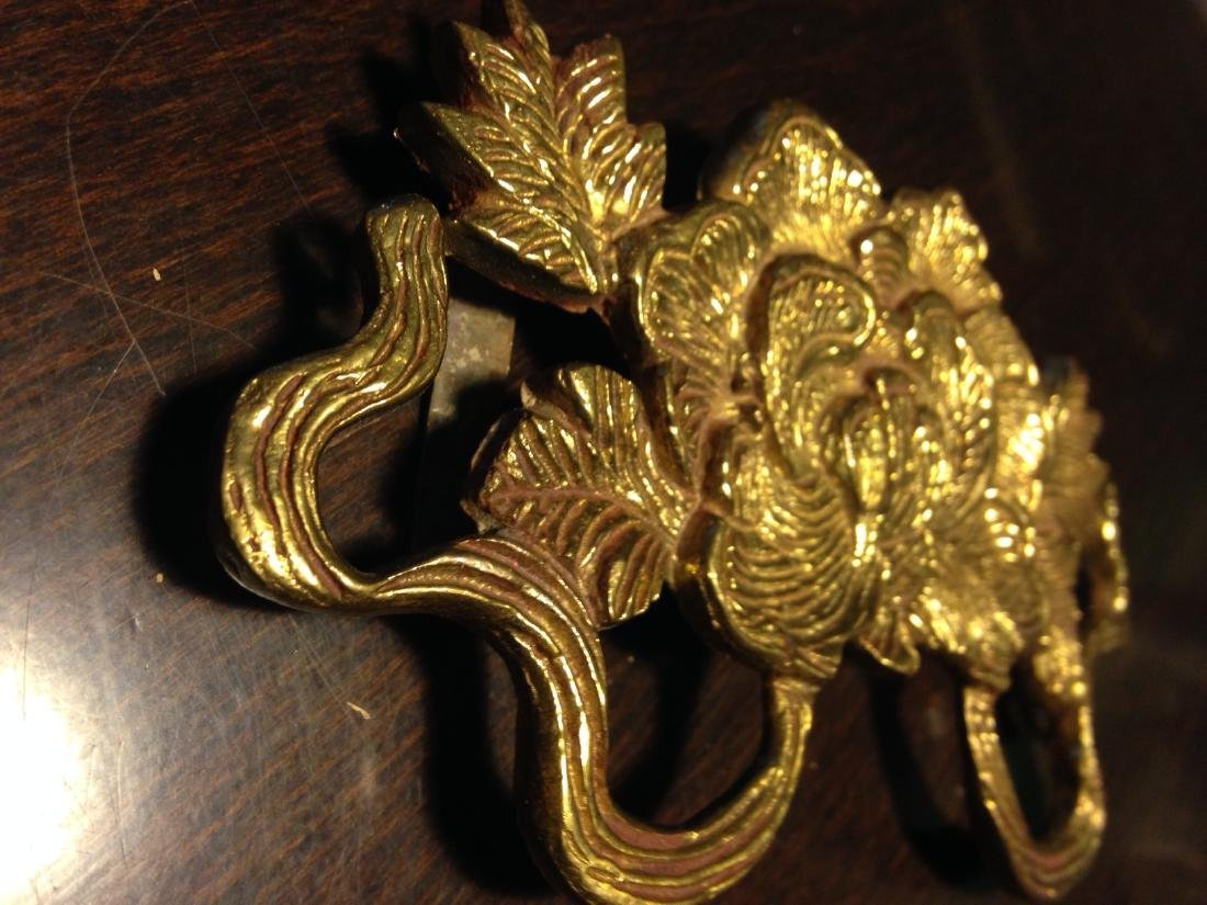 Bronze Ornamental Flower Made by Tibetan Refugee, India - 7