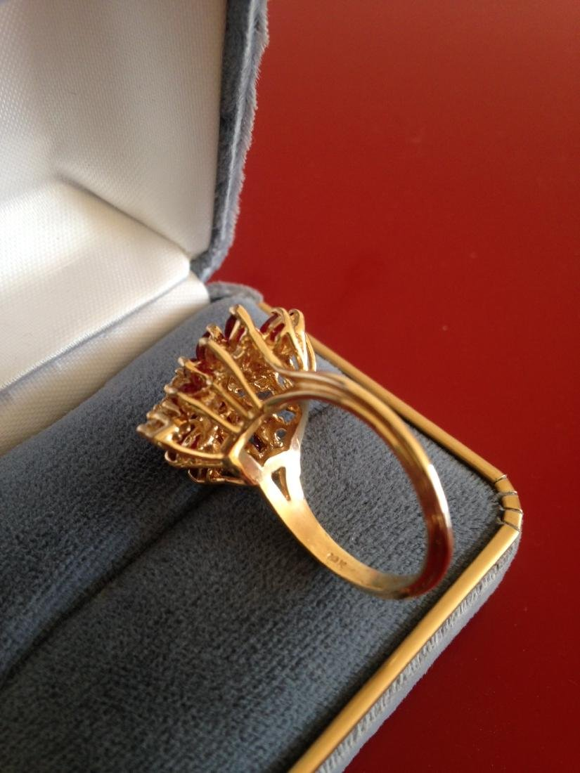 Estate Ring Ruby and Diamond Butterfly Size 8 - 7