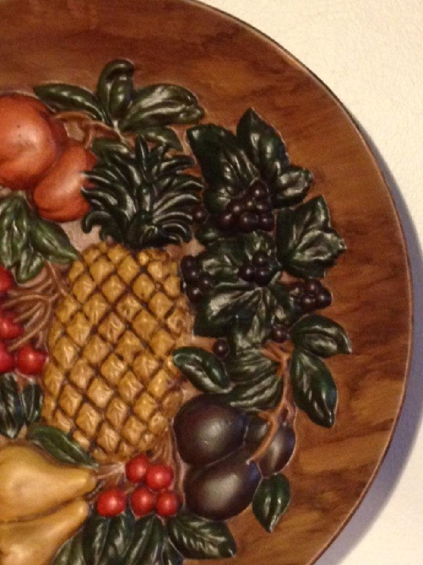 Vintage Hand-Painted Ceramic Plate w/ Fruit, Signed - 2