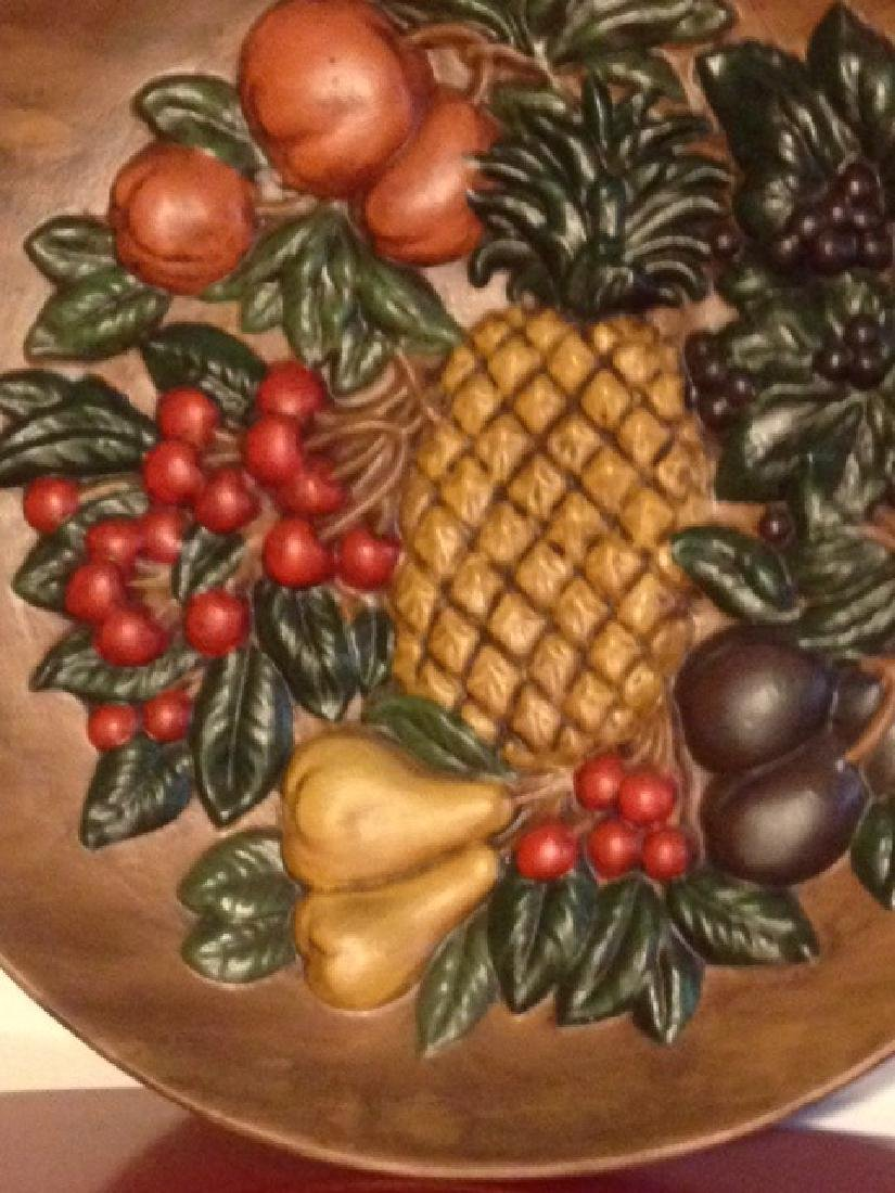 Vintage Hand-Painted Ceramic Plate w/ Fruit, Signed - 3