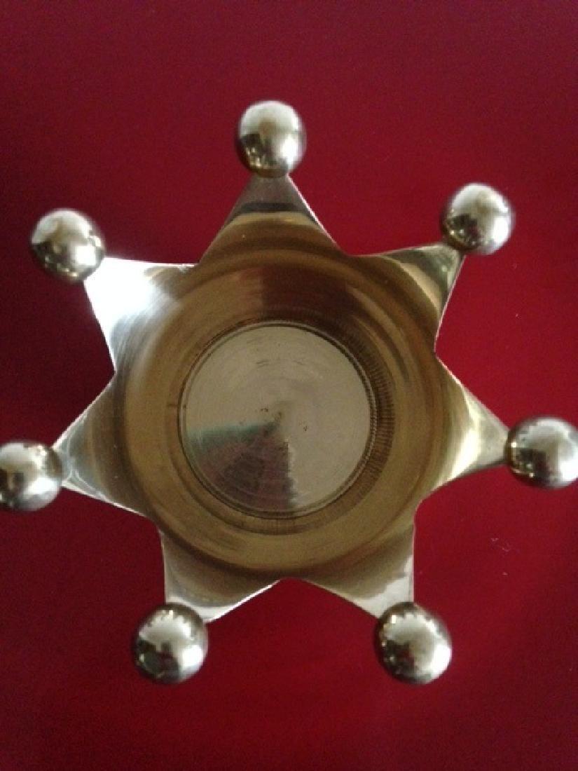 Solid Brass Crown Votive/Trinket Holder from India - 2