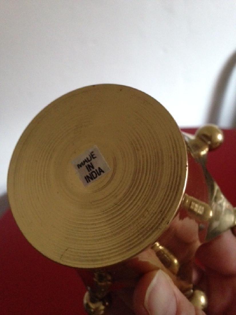 Solid Brass Crown Votive/Trinket Holder from India - 3