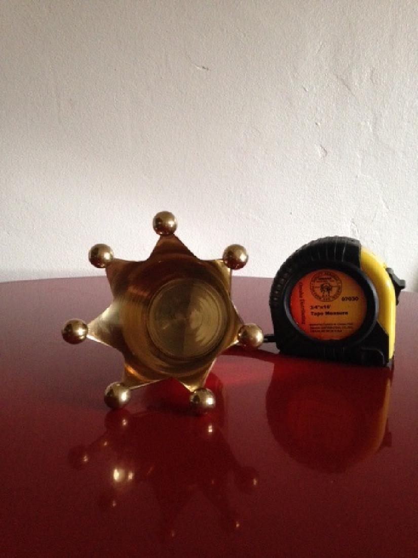 Solid Brass Crown Votive/Trinket Holder from India - 6