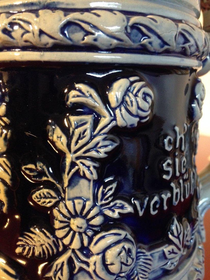 Heidelberg Rein Zinn Stoneware German Stein, Pewter Lid - 10