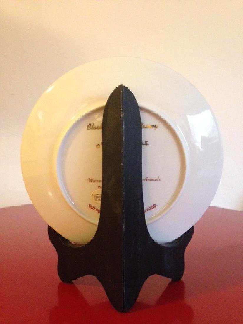 Lenox Warren Kimble Black and White Bunny Plate - 3