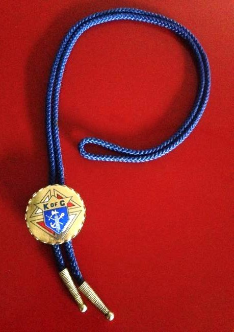 Vintage Knights of Columbus Rope Necklace