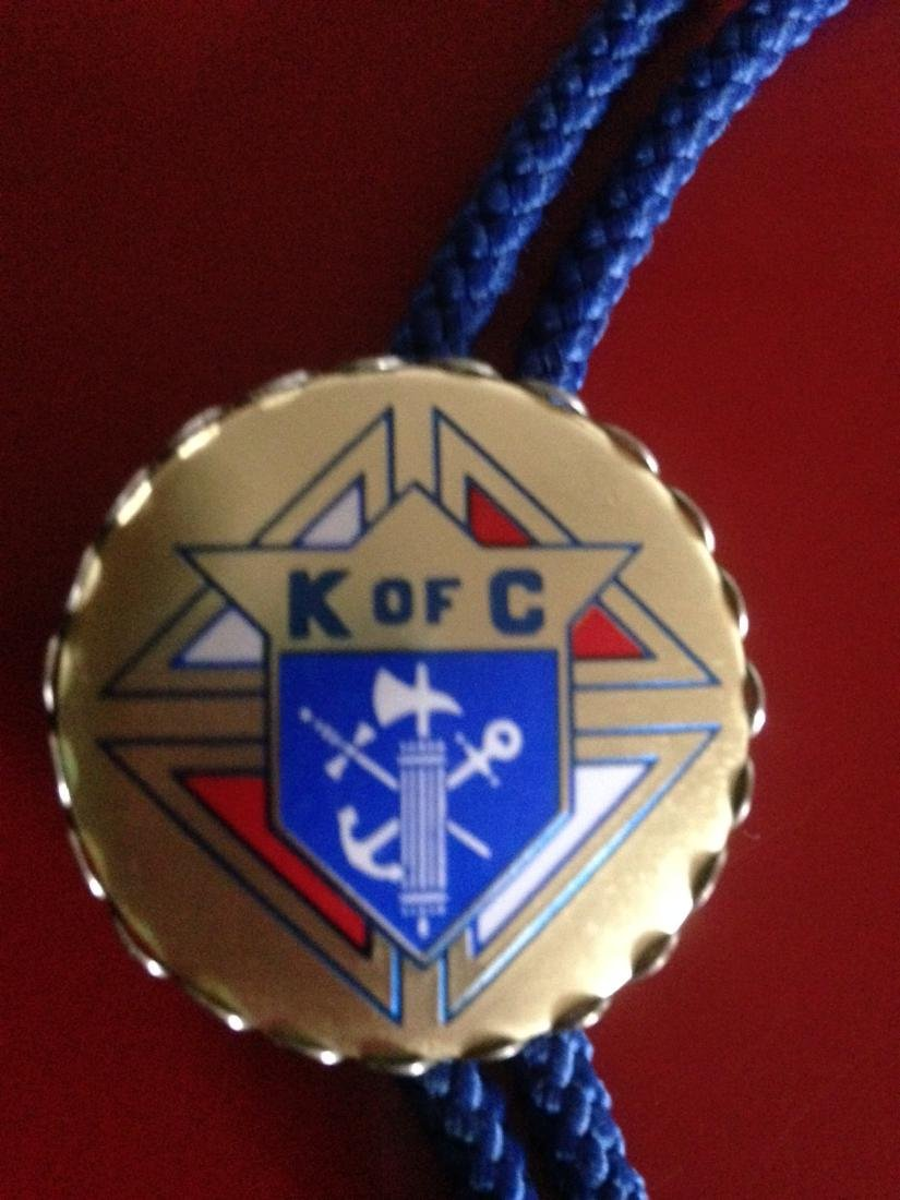 Vintage Knights of Columbus Rope Necklace - 3