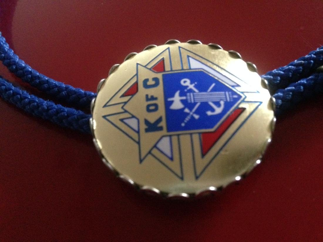 Vintage Knights of Columbus Rope Necklace - 4