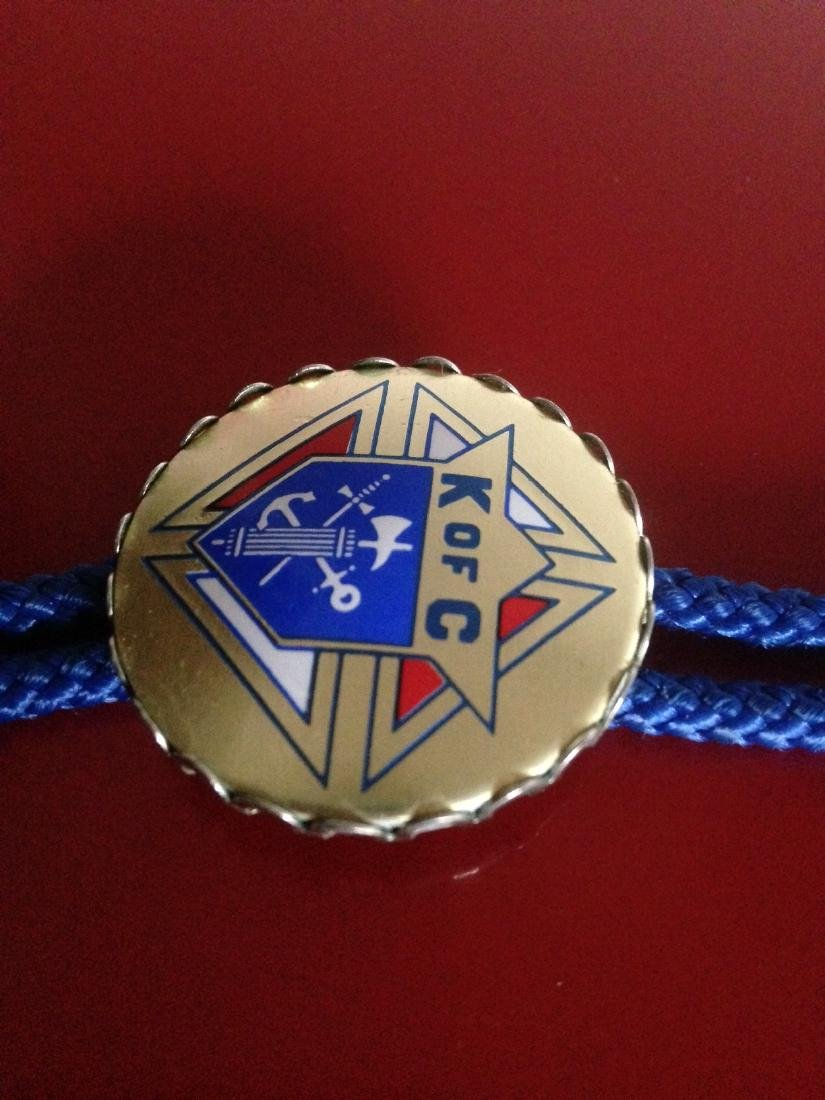 Vintage Knights of Columbus Rope Necklace - 5