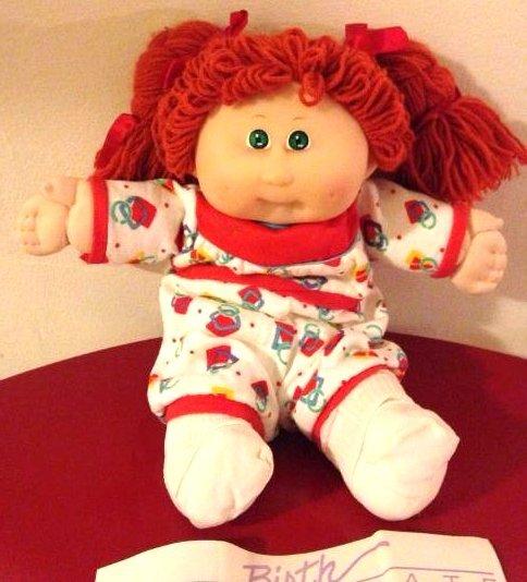 "1988 Cabbage Patch Doll ""Toddler Kids"" w/ Birth Cert."