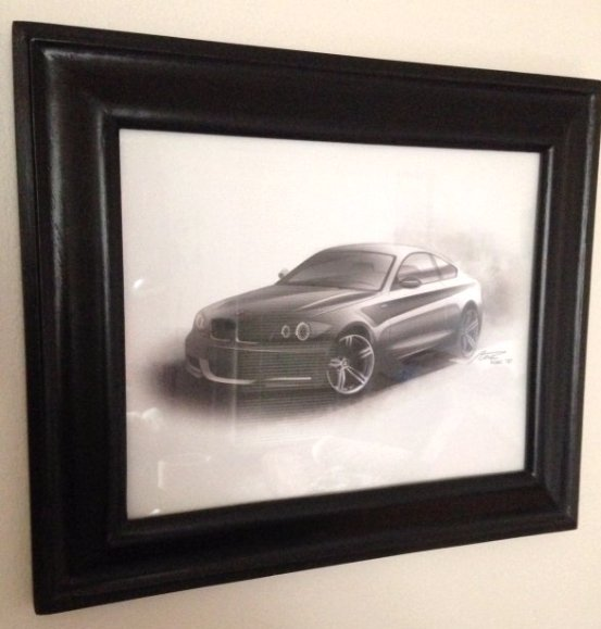 Rendering of BMW 1 Series by Florian Nissl 2007, Framed