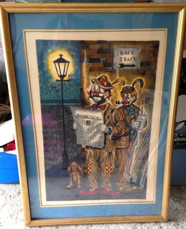 """The Touts"" by George Crionas, Artist Proof, Framed"