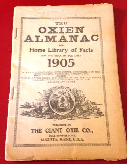 Rare 1905 The Oxien Almanac