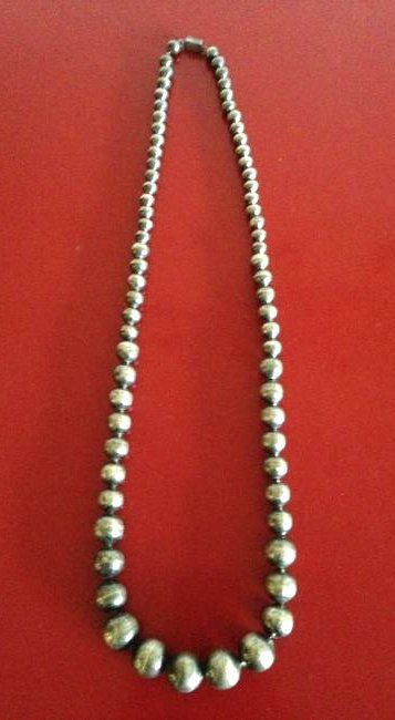 Antique Sterling Silver Taxco Graduated Mexican Beads