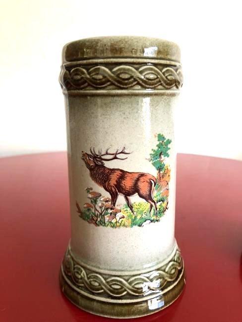 Vintage Staffel Stoneware W. Germany Stein w/ Elk