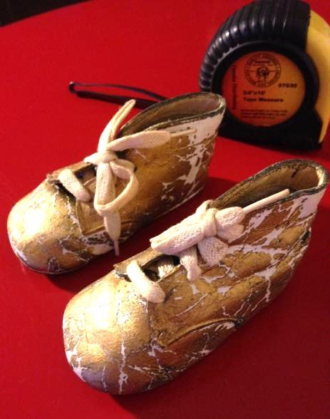 Rare Antique 1943 Baptism Baby Shoes/Booties