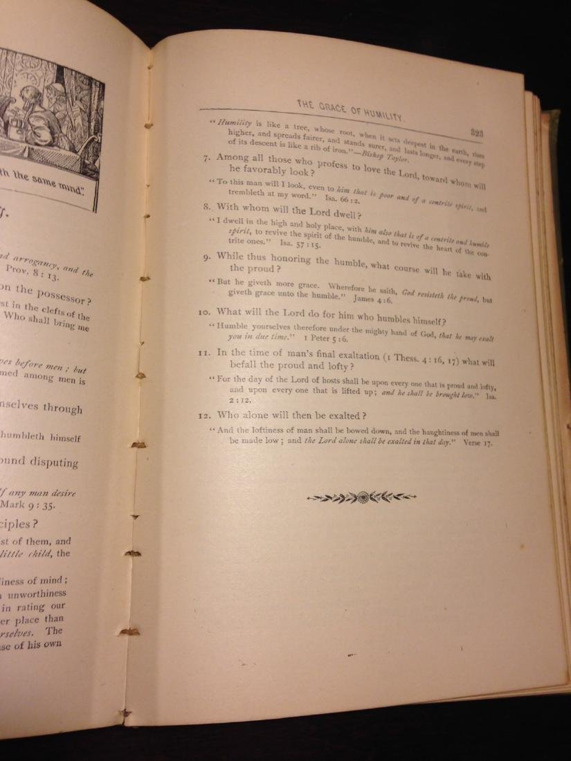 """Antique 1888 """"Bible Reading for the Home Circle"""" - 7"""