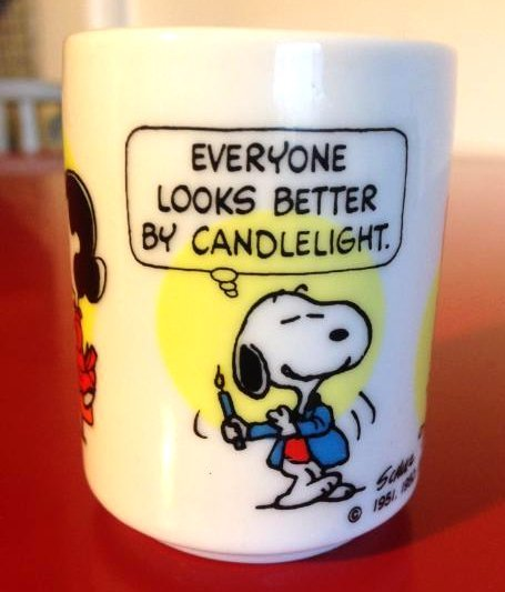 Vintage Snoopy Ceramic Candle Holder by Hallmark