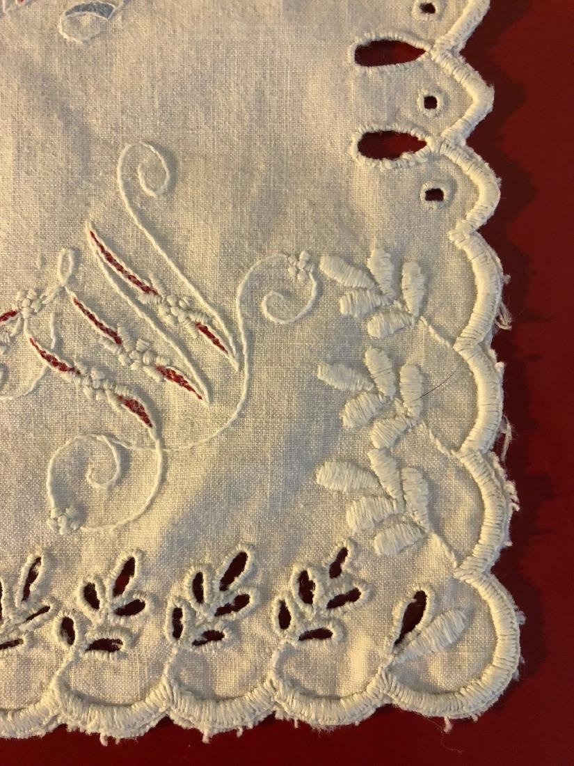 Antique 1891 Hand-Embroidered Alphabet Sampler - 5