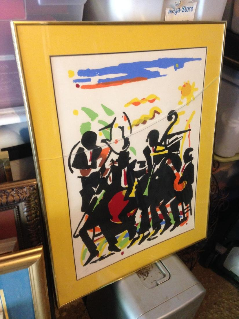 Jazz Festival Limited Edition Signed Print by D. Scott - 3