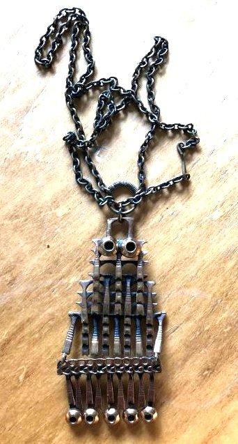Unique 1960's Copper Sarpaneva Owl Necklace