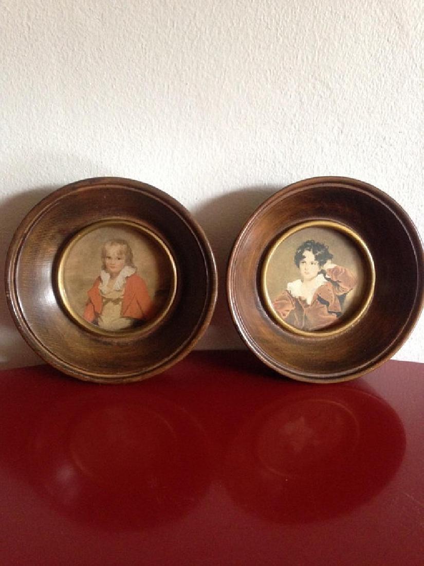 Vintage Homemaker's Picture Ensemble Pair of Framed