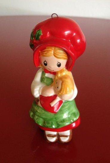 Vintage 1982 Hand-Painted Hollie Hobbie Ornament