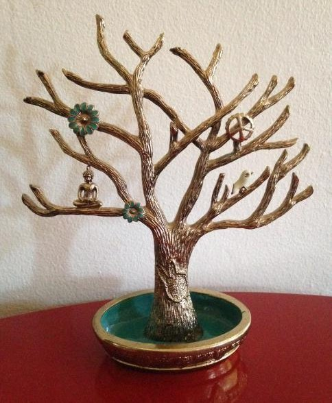 Lucky Brand Gold-Tone and Enamel Jewelry Tree/Stand