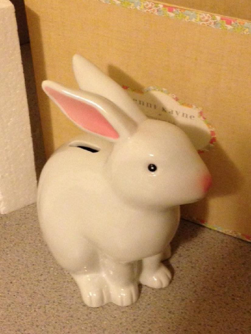 Jenny Kayne White Bunny Bank New in Box