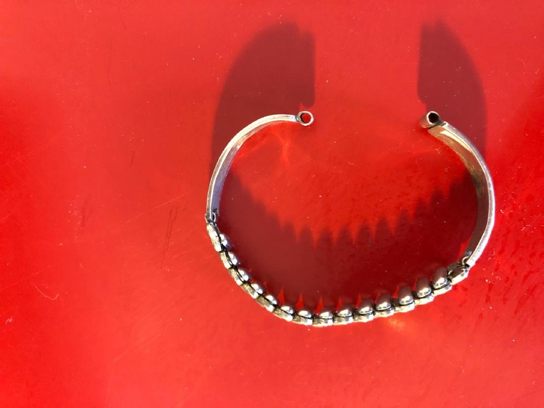 Sterling Silver Native American Hopi Watch Band - 9