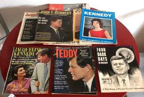 Lot of 9 Kennedy Magazines