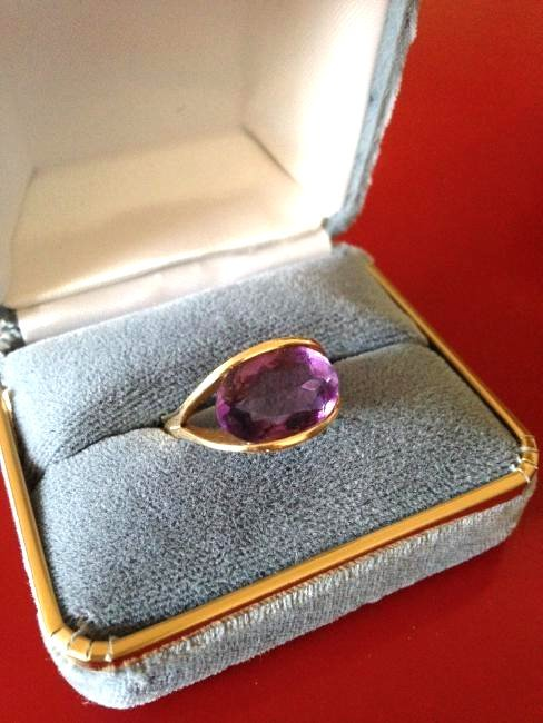 Amethyst 14k Gold Estate Ring Size: 7.5