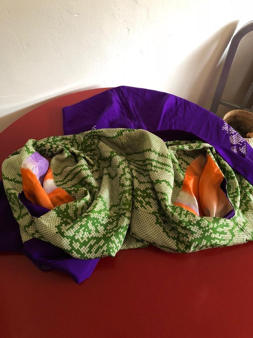 Rare Vintage Hand-Made Lined Purple Japanese Kimono - 9