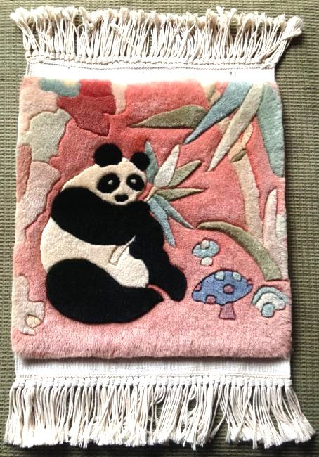 Wall Hanging Tapestry Rug w/ Panda Bear