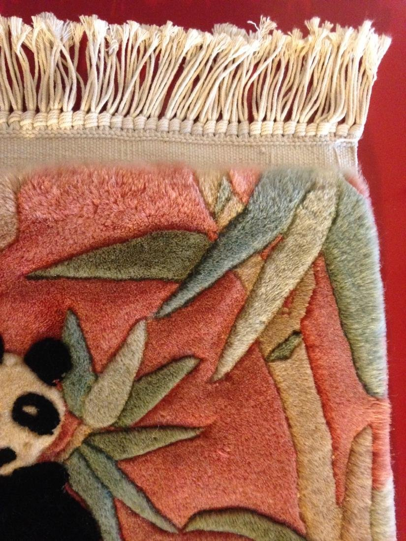 Wall Hanging Tapestry Rug w/ Panda Bear - 4