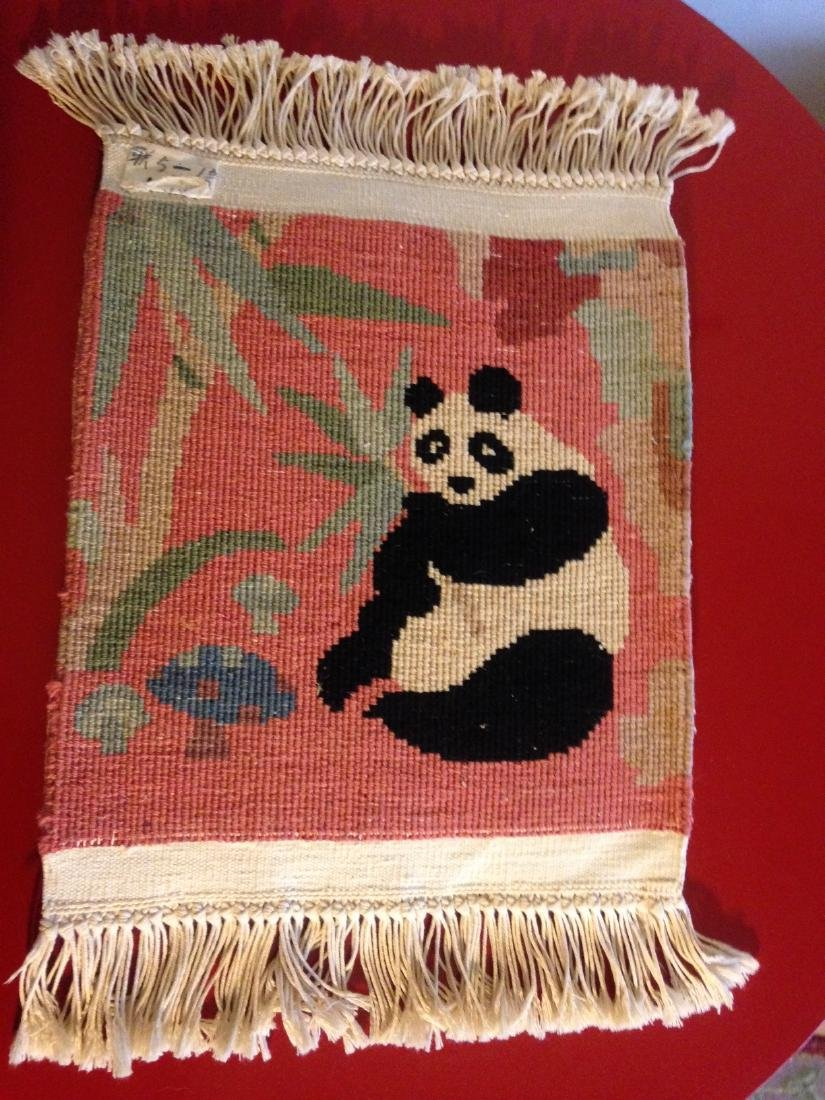 Wall Hanging Tapestry Rug w/ Panda Bear - 7
