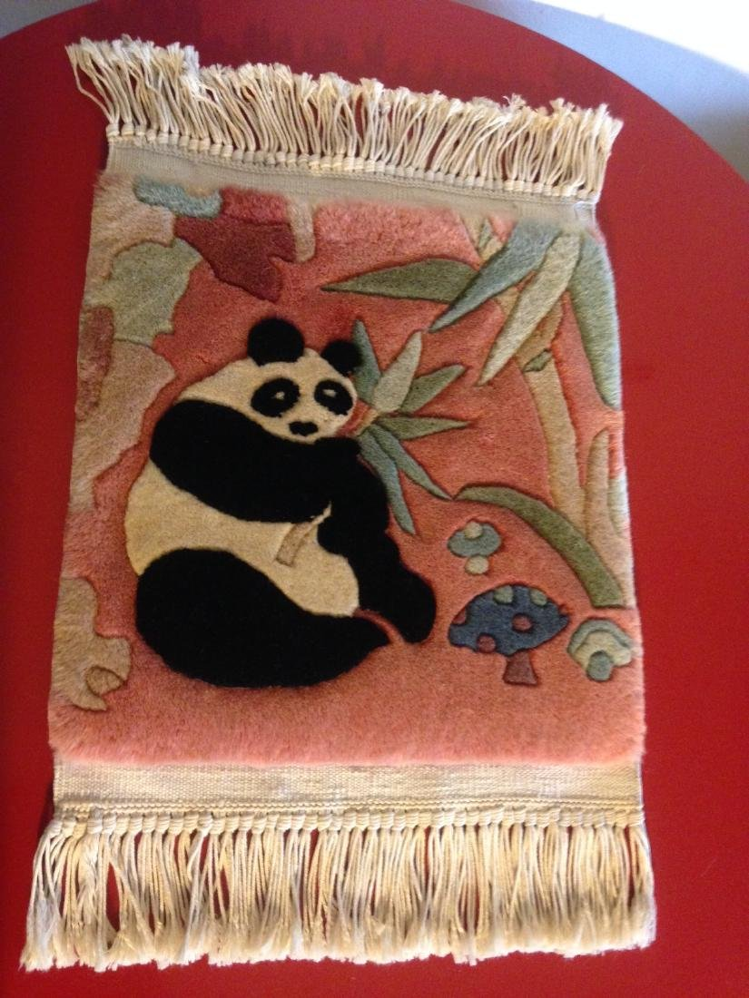 Wall Hanging Tapestry Rug w/ Panda Bear - 9