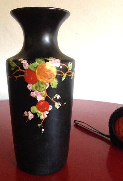 Vintage Porcelain Ducal Ware Vase w/ Bird Scene