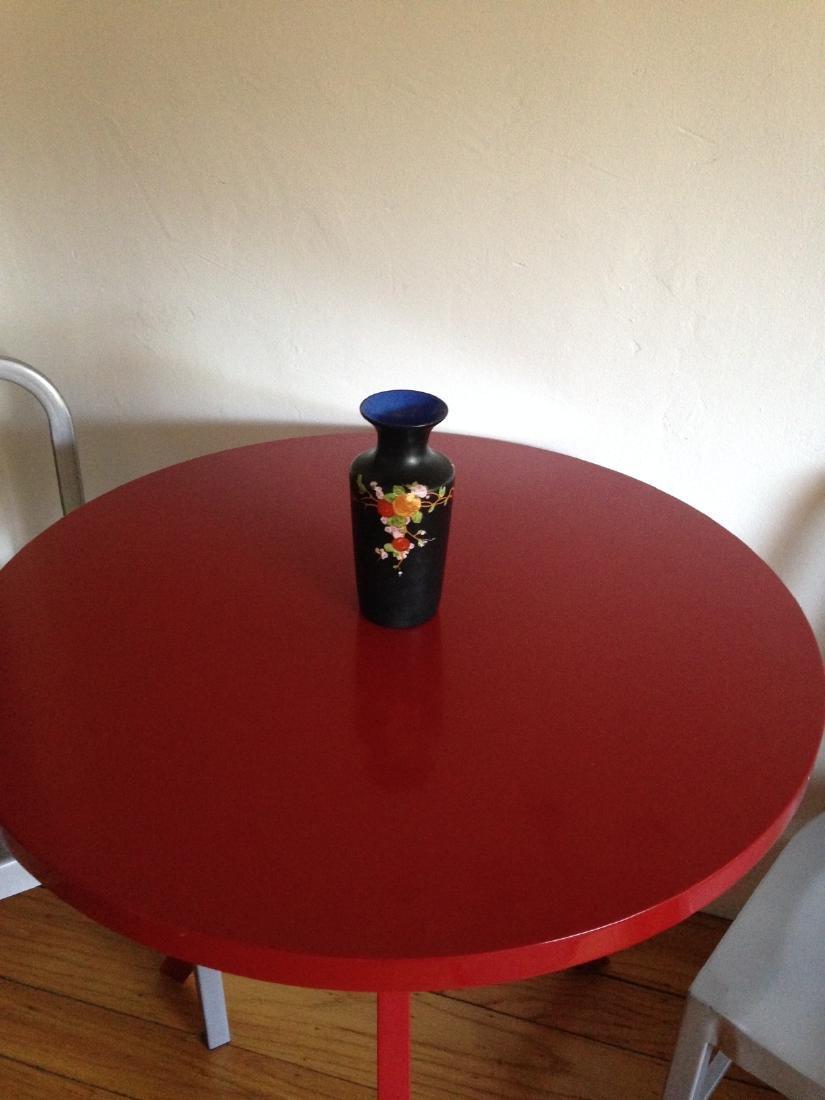 Vintage Porcelain Ducal Ware Vase w/ Bird Scene - 2