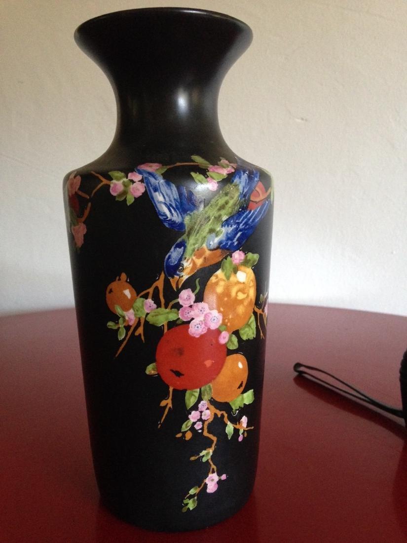 Vintage Porcelain Ducal Ware Vase w/ Bird Scene - 5