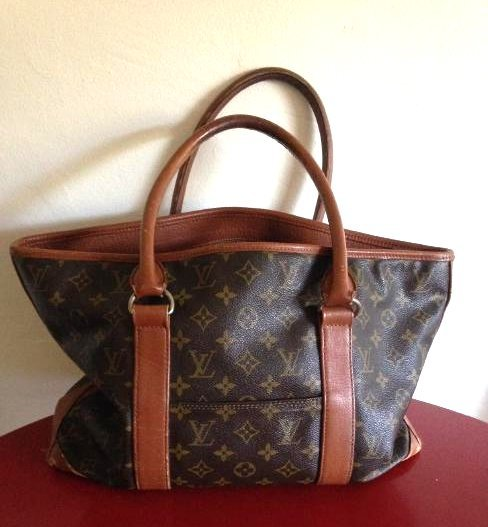 Vintage Louis Vuitton Leather Handbag w/ Stamp