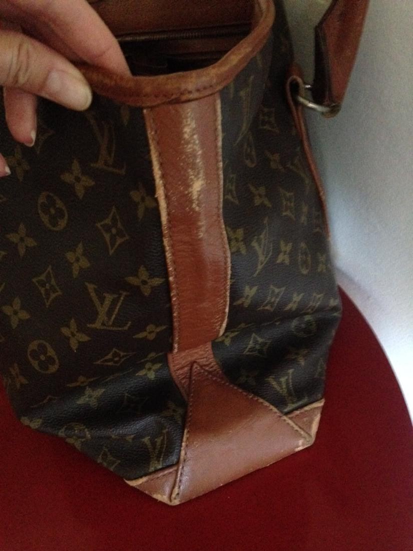 Vintage Louis Vuitton Leather Handbag w/ Stamp - 3