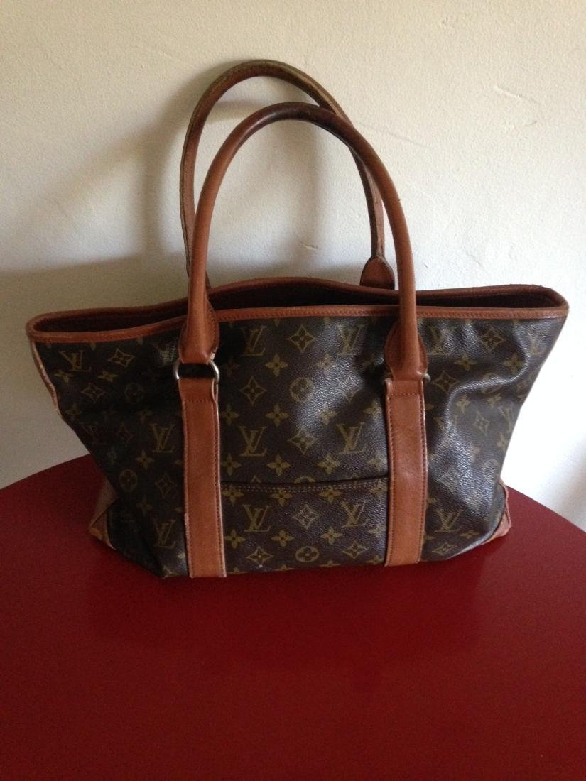 Vintage Louis Vuitton Leather Handbag w/ Stamp - 4