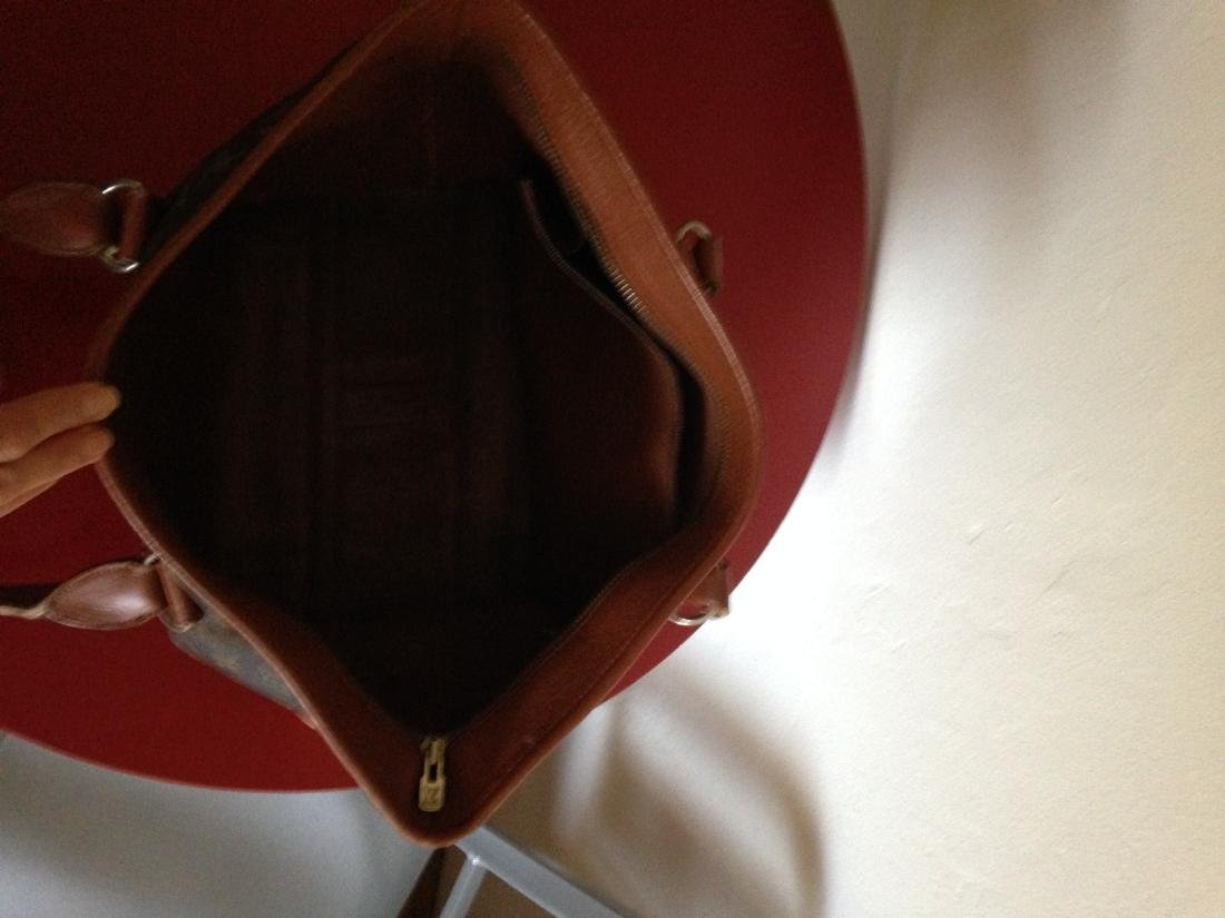 Vintage Louis Vuitton Leather Handbag w/ Stamp - 6