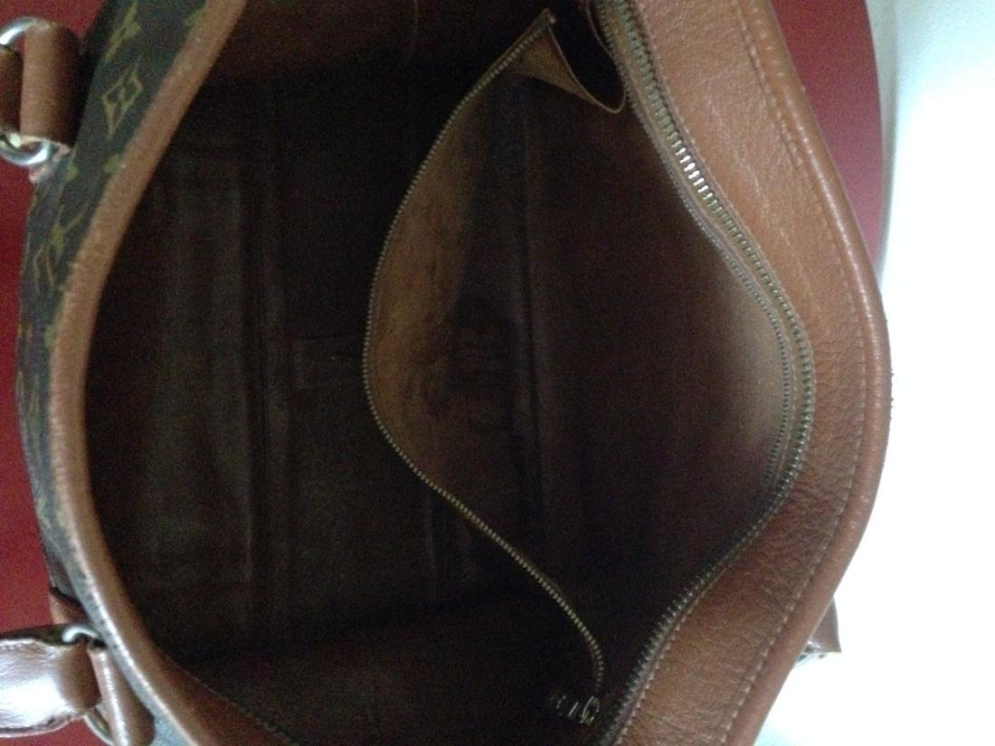 Vintage Louis Vuitton Leather Handbag w/ Stamp - 7