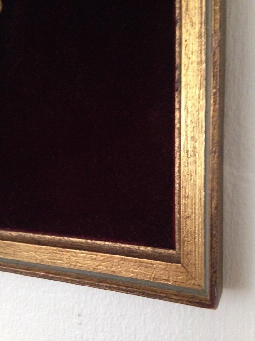 1800's Porcelain Gilded Bronze Plaque w/ Cherubs - 2