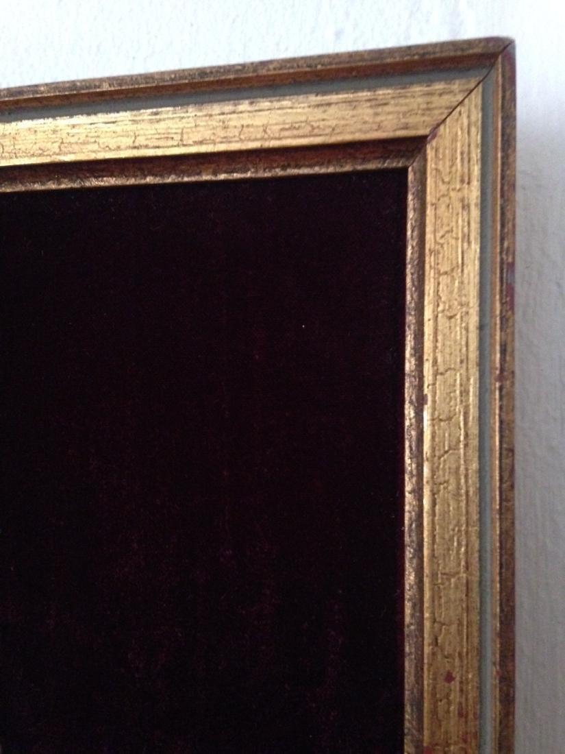 1800's Porcelain Gilded Bronze Plaque w/ Cherubs - 3