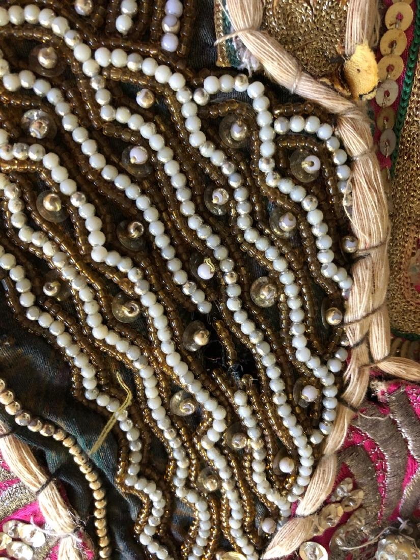 Vintage Hand-Crafted Indian Multi-Fabric, Beaded - 13