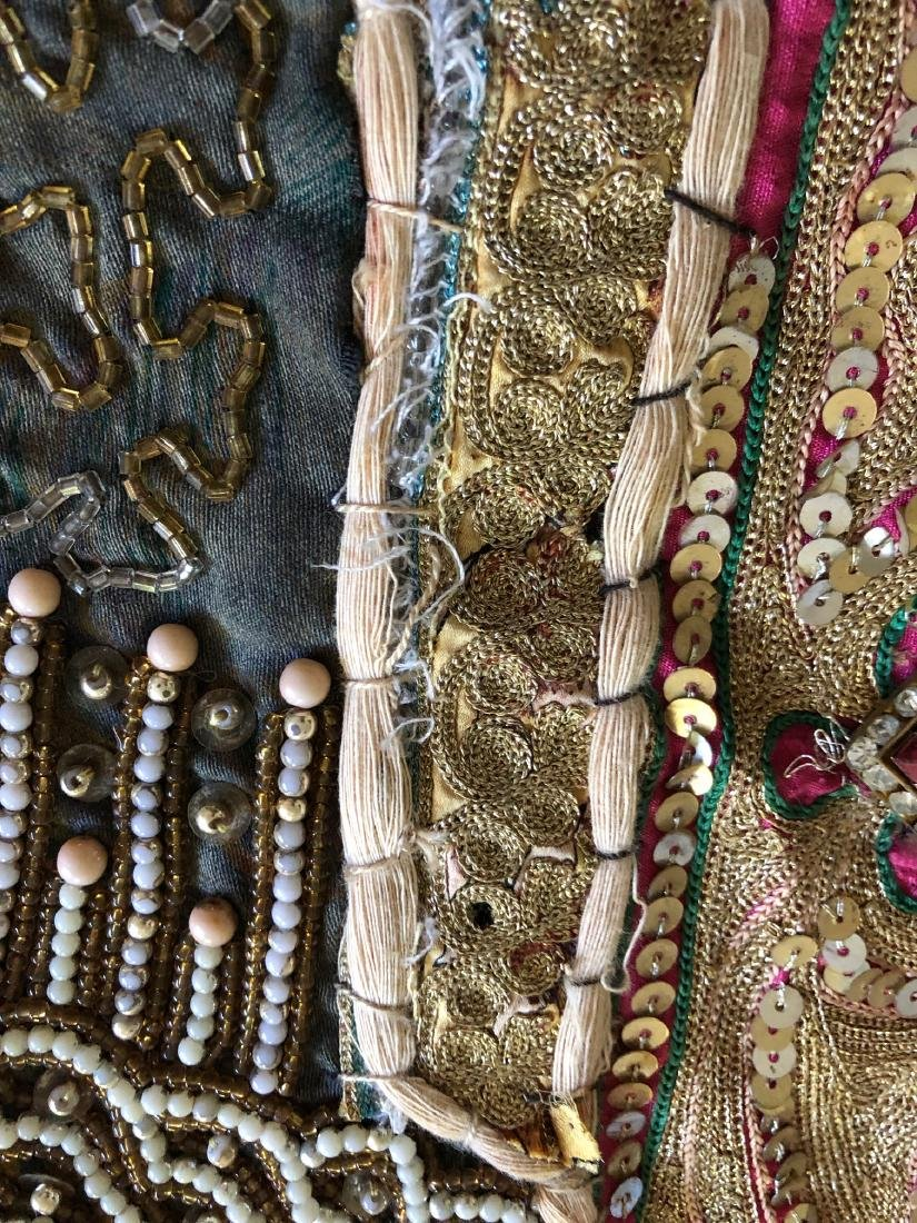 Vintage Hand-Crafted Indian Multi-Fabric, Beaded - 14